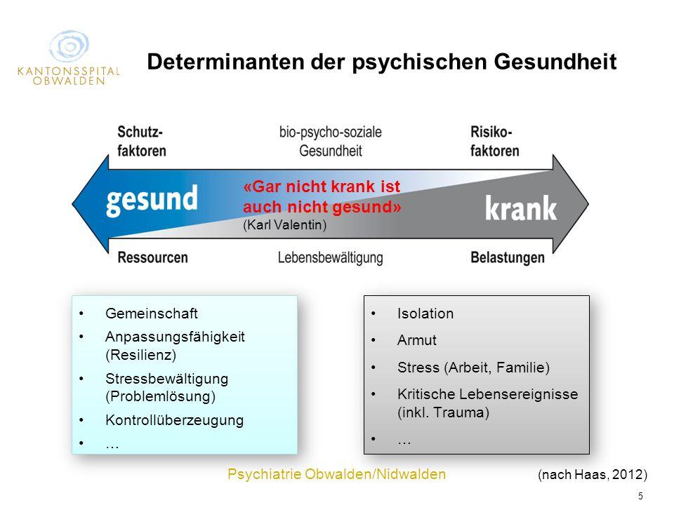 Determinanten der psychischen Gesundheit