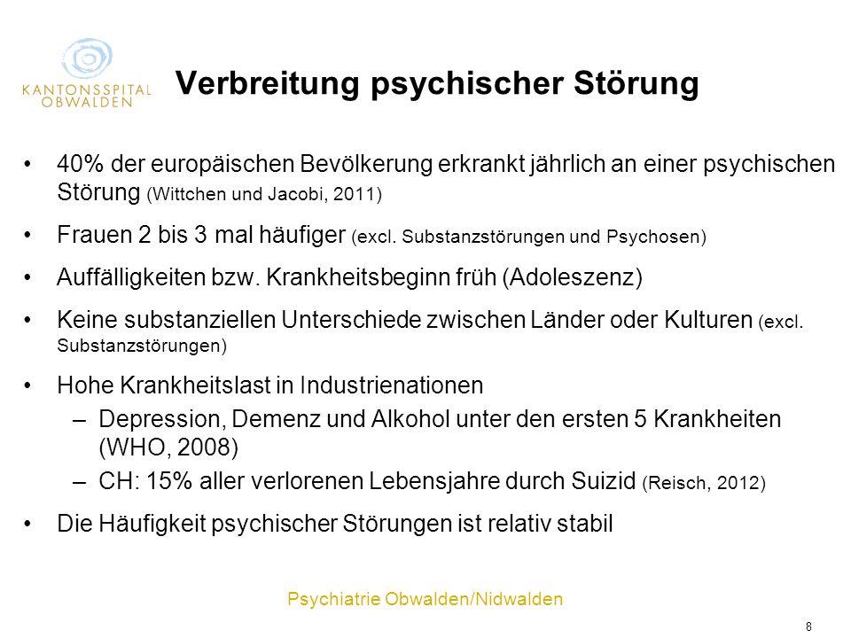 Verbreitung psychischer Störung
