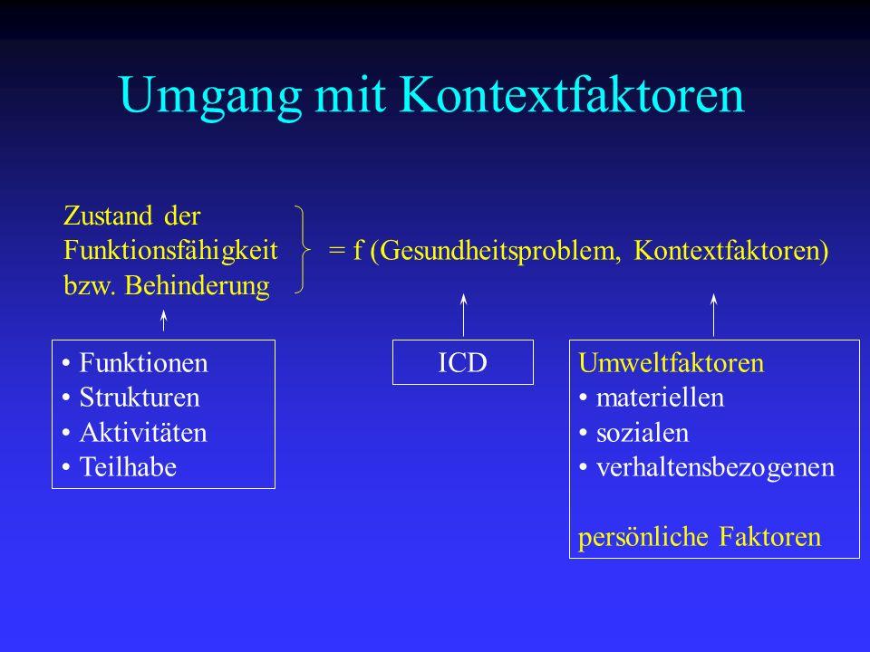Umgang mit Kontextfaktoren