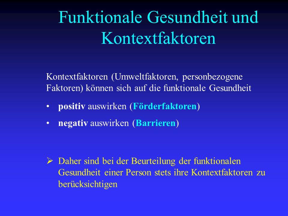 Funktionale Gesundheit und Kontextfaktoren