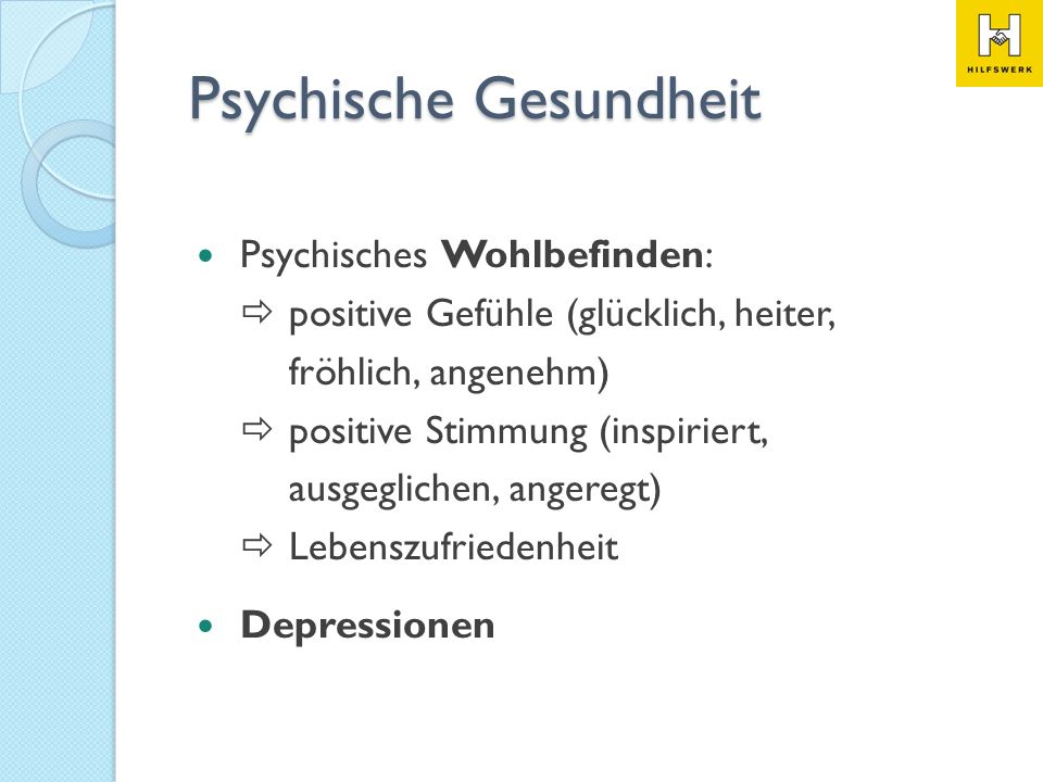 Psychische Gesundheit