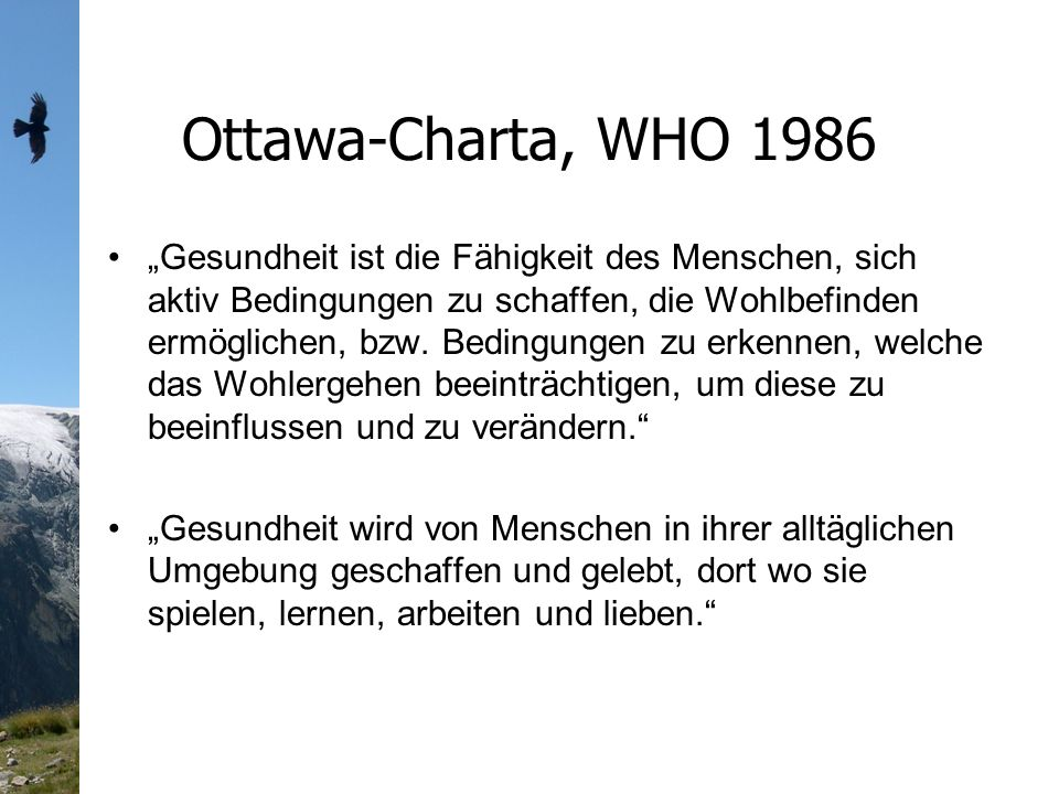 Ottawa-Charta, WHO 1986