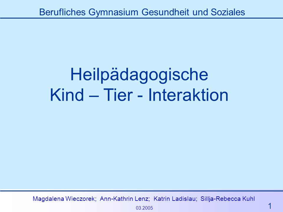 Kind – Tier - Interaktion