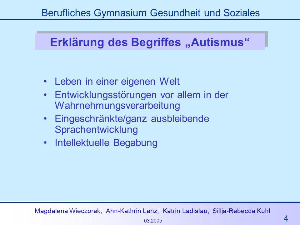"""Erklärung des Begriffes """"Autismus"""