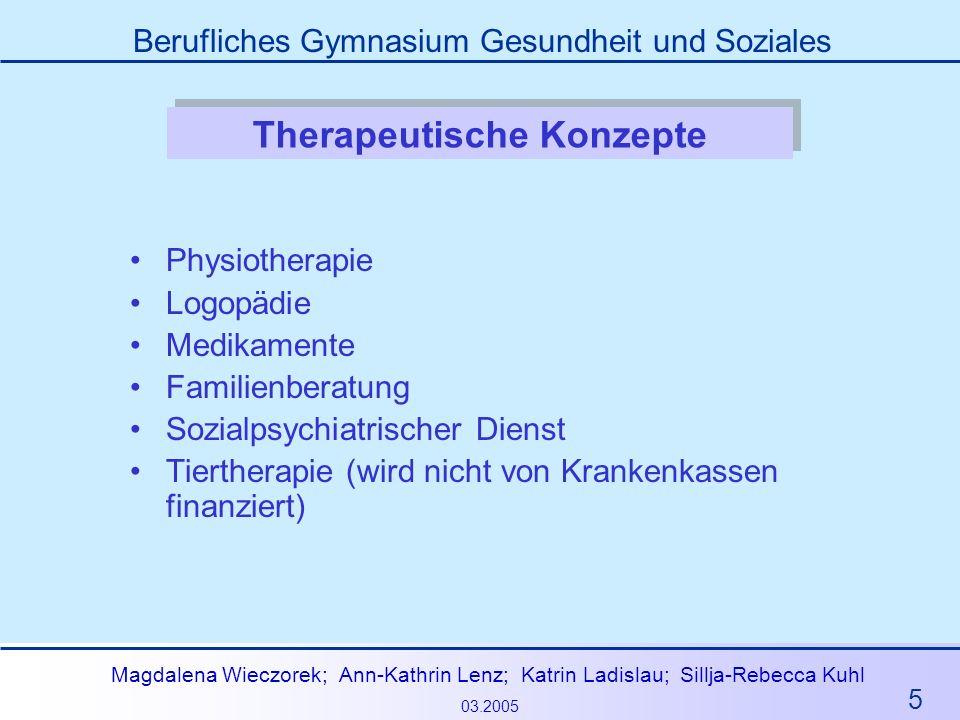 Therapeutische Konzepte