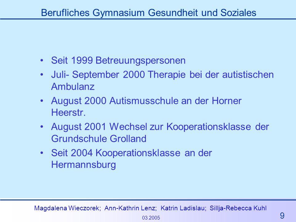 Seit 1999 Betreuungspersonen