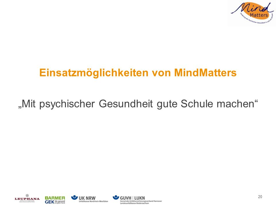 Aktivität mit MindMatters
