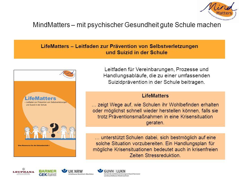 Prävention suizidaler Krisen mit MindMatters