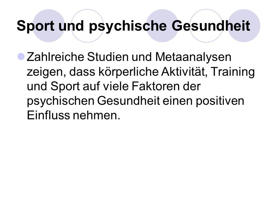 Sport und psychische Gesundheit