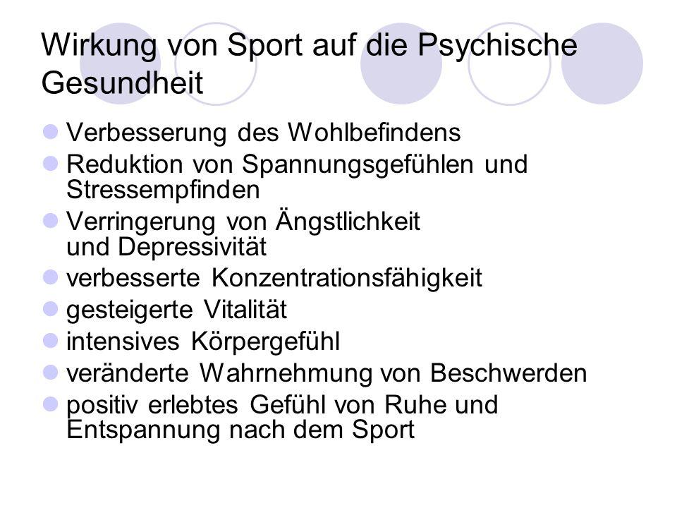 Wirkung von Sport auf die Psychische Gesundheit