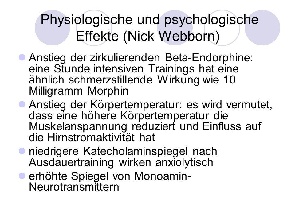 Physiologische und psychologische Effekte (Nick Webborn)