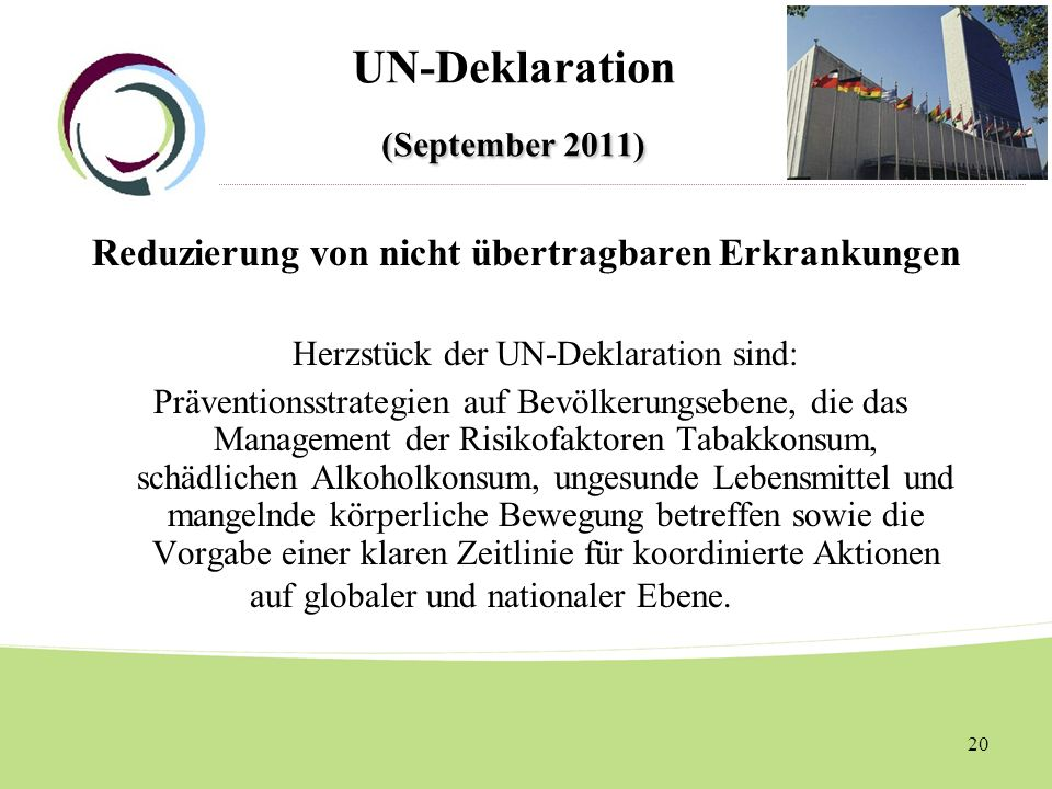UN-Deklaration (September 2011)