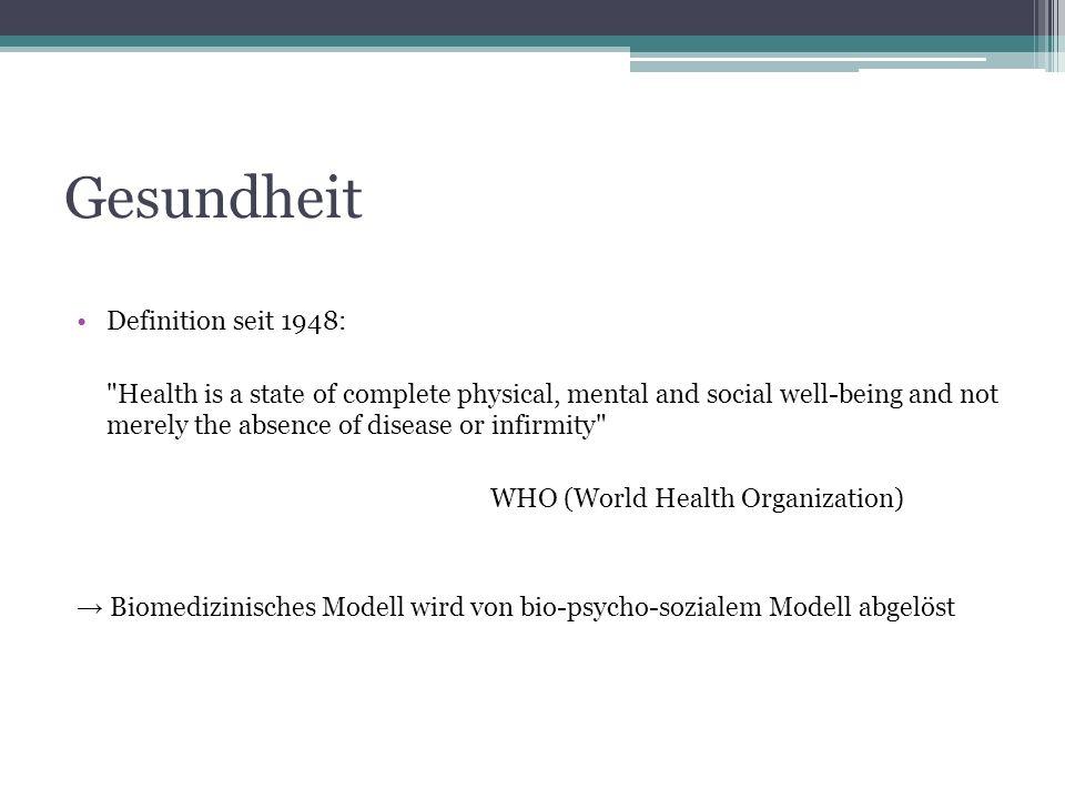 Gesundheit Definition seit 1948: