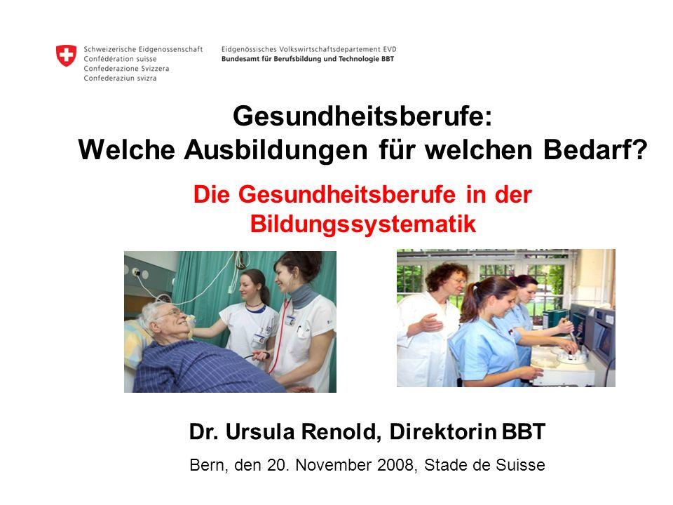 Dr. Ursula Renold, Direktorin BBT