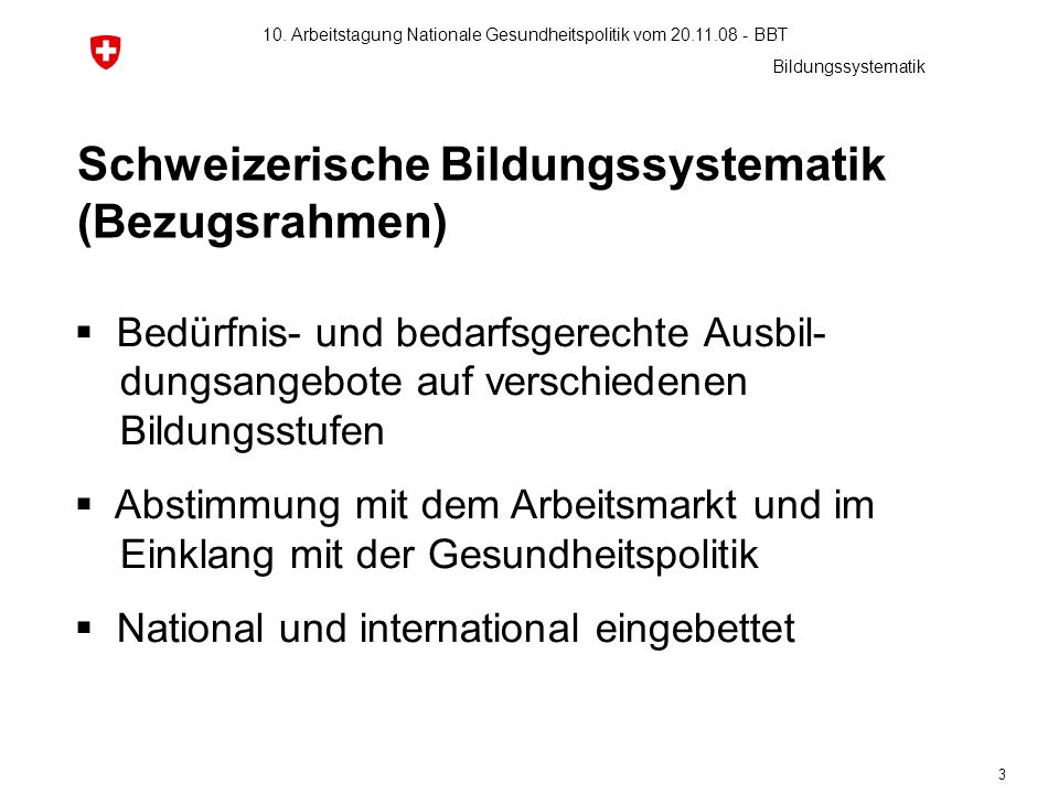 Schweizerische Bildungssystematik (Bezugsrahmen)
