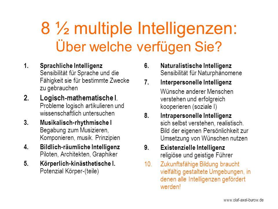8 ½ multiple Intelligenzen: Über welche verfügen Sie