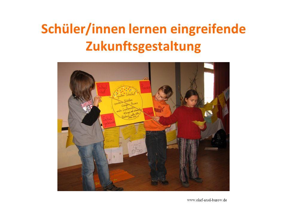 Schüler/innen lernen eingreifende Zukunftsgestaltung