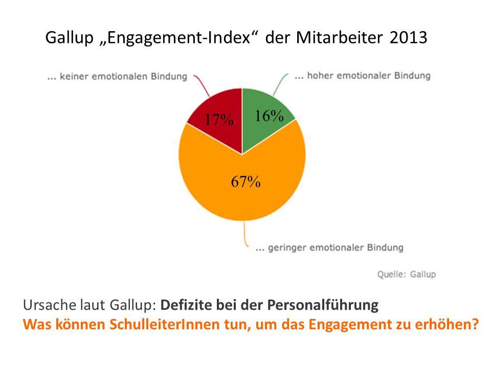 """Gallup """"Engagement-Index der Mitarbeiter 2013"""