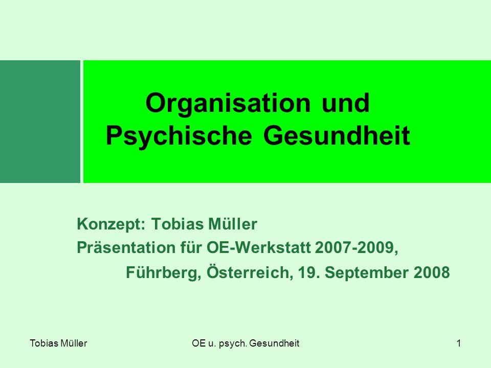 Organisation und Psychische Gesundheit