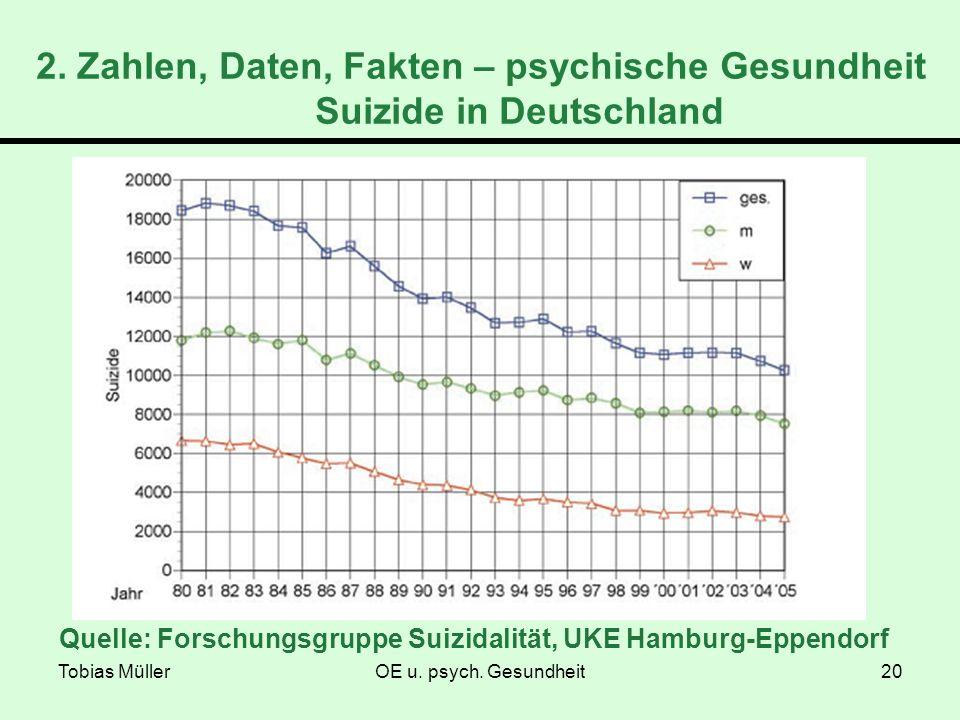 2. Zahlen, Daten, Fakten – psychische Gesundheit Suizide in Deutschland