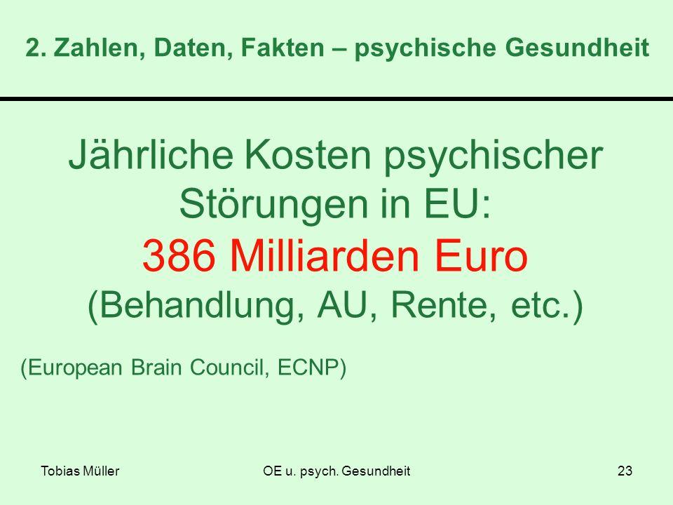 2. Zahlen, Daten, Fakten – psychische Gesundheit