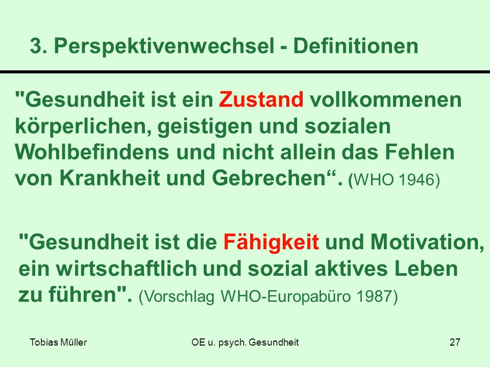 3. Perspektivenwechsel - Definitionen