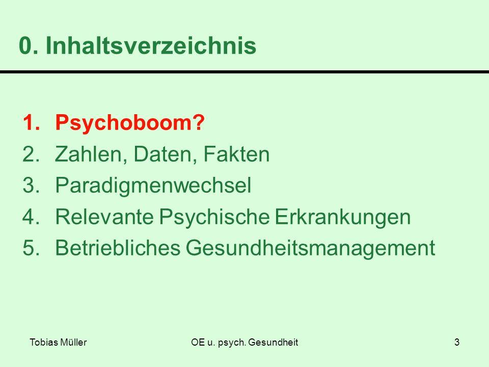 0. Inhaltsverzeichnis Psychoboom Zahlen, Daten, Fakten
