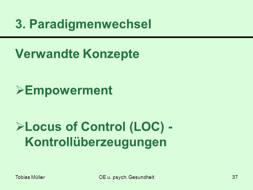 Locus of Control (LOC) - Kontrollüberzeugungen