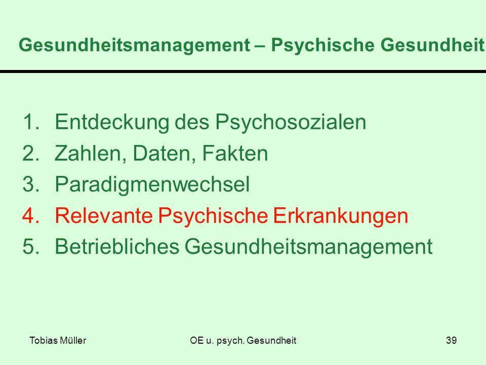 Gesundheitsmanagement – Psychische Gesundheit