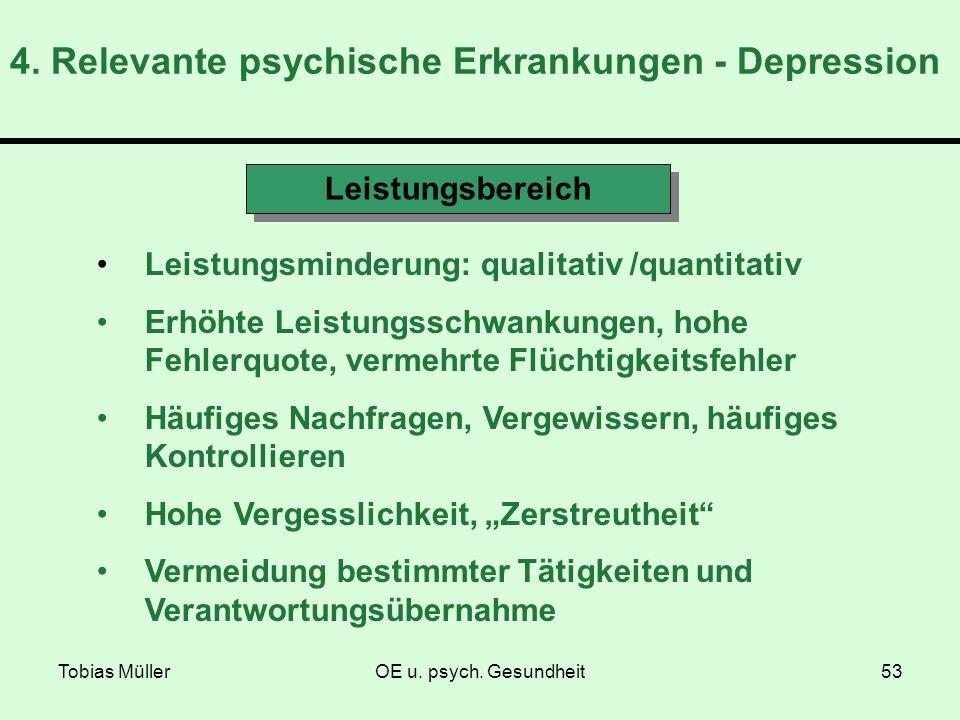 4. Relevante psychische Erkrankungen - Depression