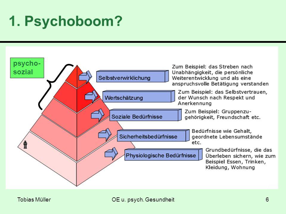 1. Psychoboom psycho- sozial Tobias Müller OE u. psych. Gesundheit