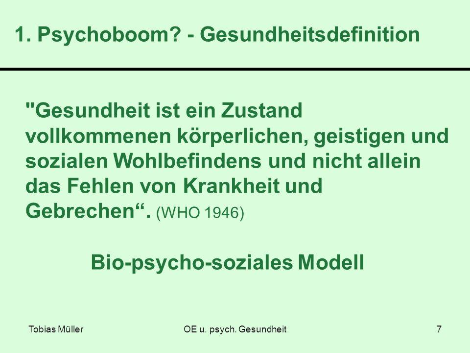 1. Psychoboom - Gesundheitsdefinition