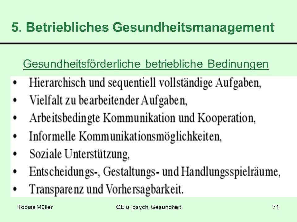 5. Betriebliches Gesundheitsmanagement