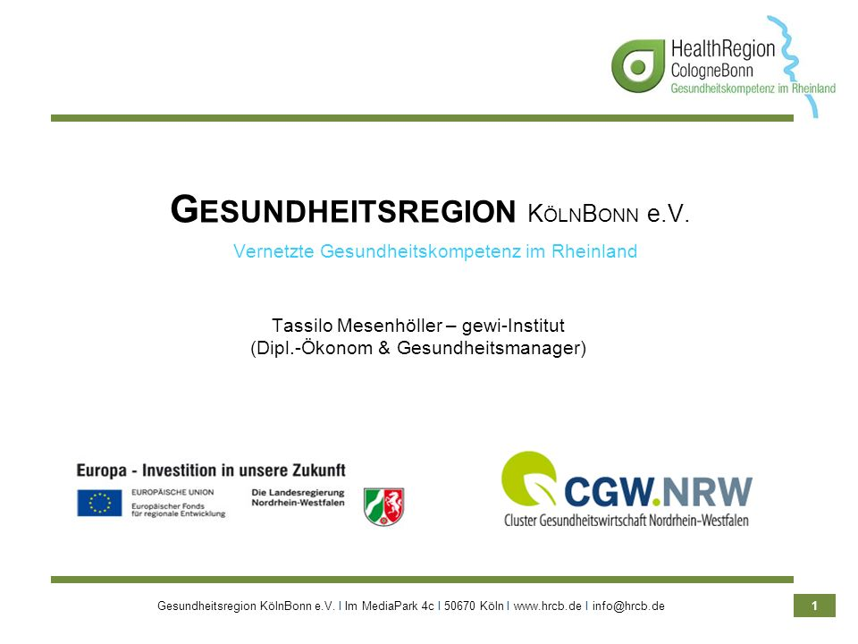 Vortrag Unternehmerschaft Rhein-Wupper e.V.