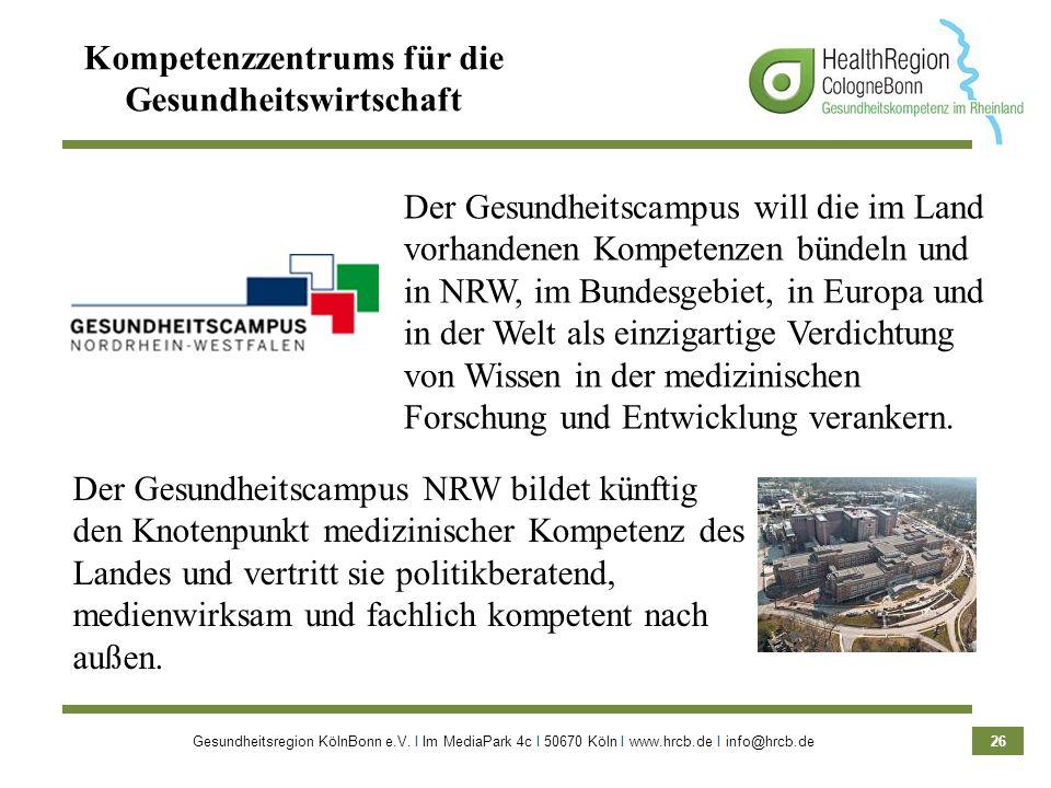 Kompetenzzentrums für die Gesundheitswirtschaft