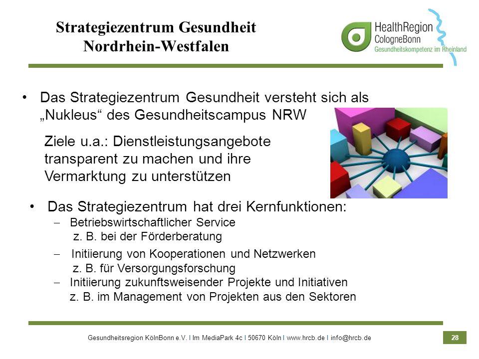 Strategiezentrum Gesundheit Nordrhein-Westfalen