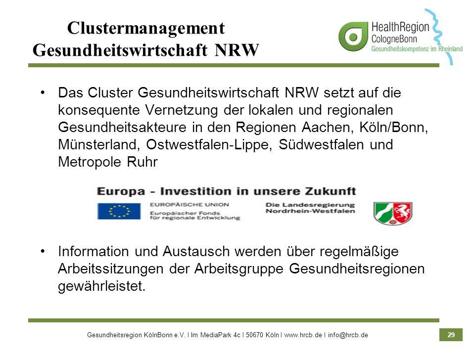 Clustermanagement Gesundheitswirtschaft NRW