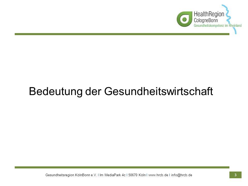 Bedeutung der Gesundheitswirtschaft