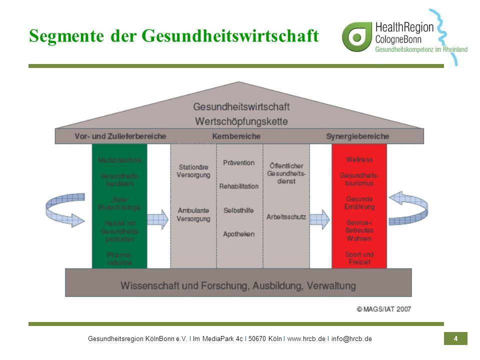 Segmente der Gesundheitswirtschaft
