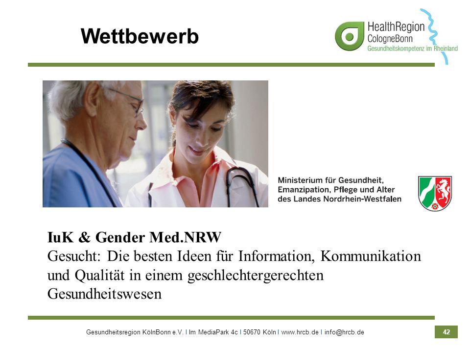 Wettbewerb IuK & Gender Med.NRW