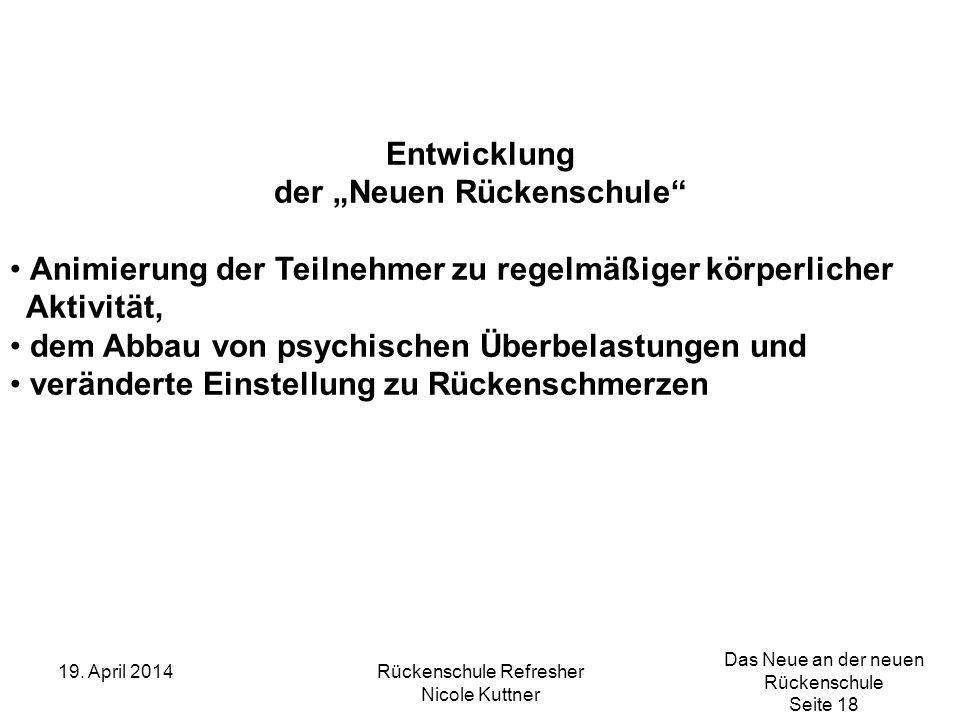 "der ""Neuen Rückenschule"