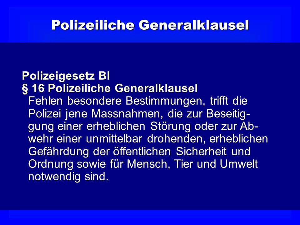 Polizeiliche Generalklausel