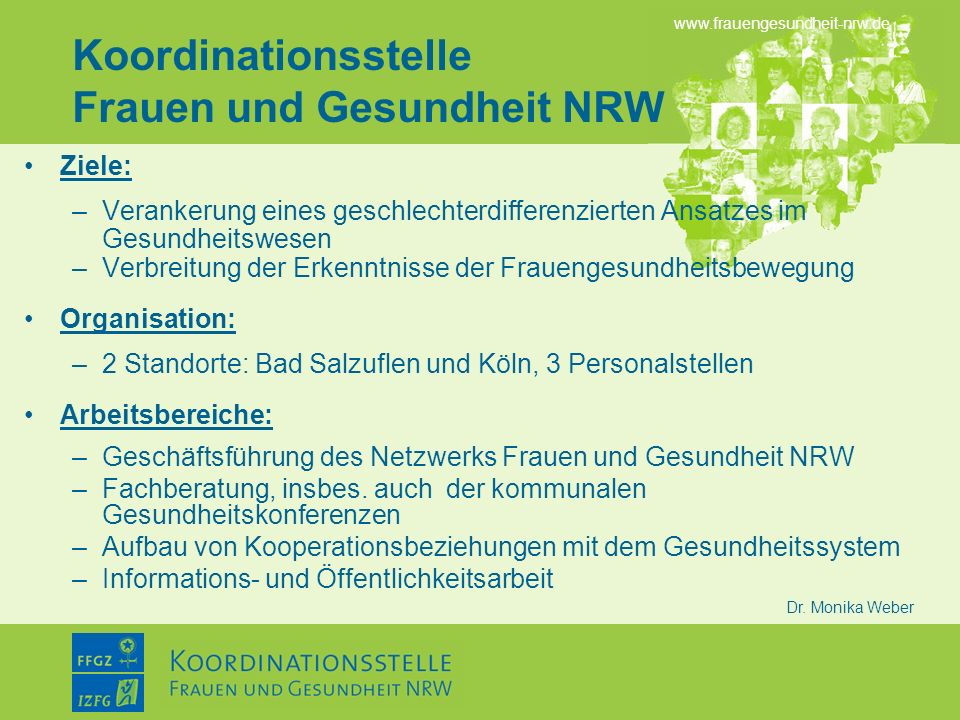 Koordinationsstelle Frauen und Gesundheit NRW