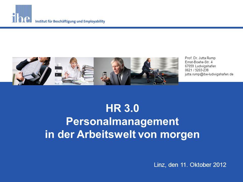 Personalmanagement in der Arbeitswelt von morgen