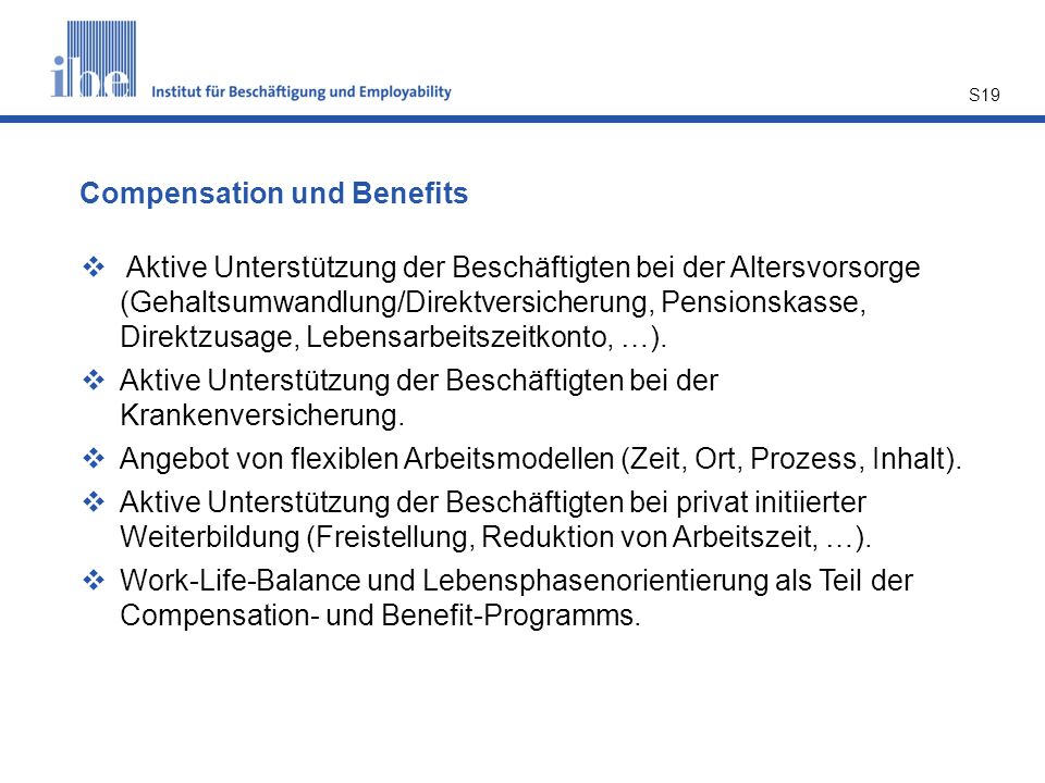 Compensation und Benefits