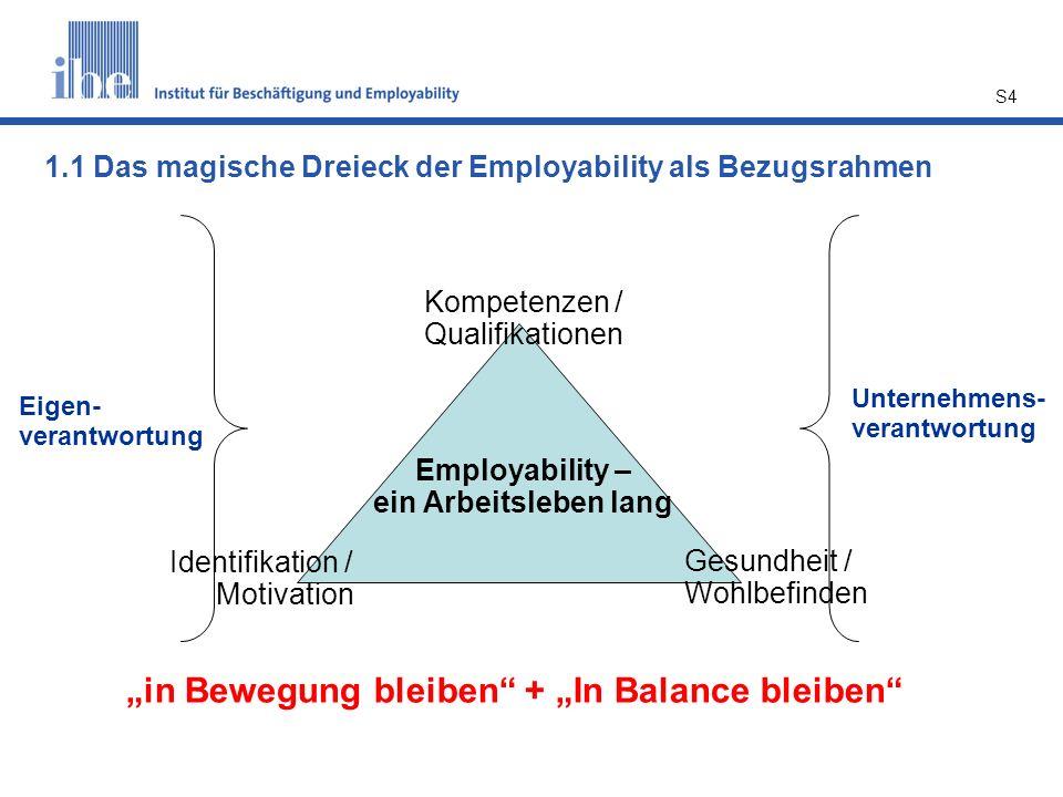 """in Bewegung bleiben + ""In Balance bleiben"
