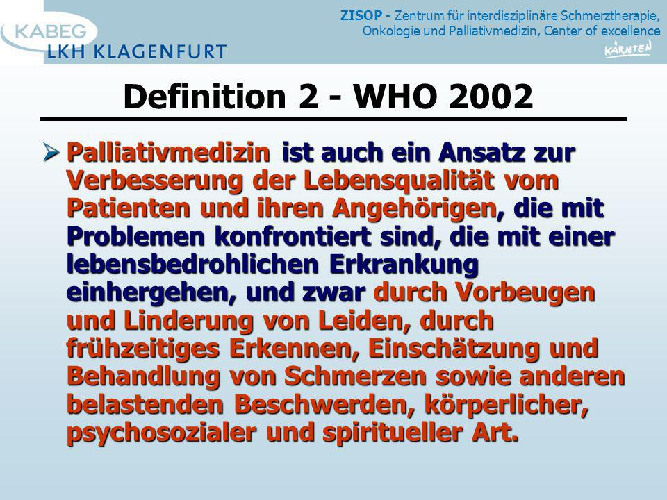 Definition 2 - WHO 2002