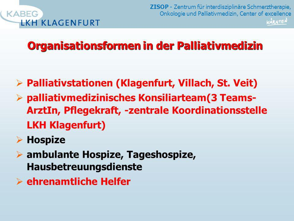 Organisationsformen in der Palliativmedizin