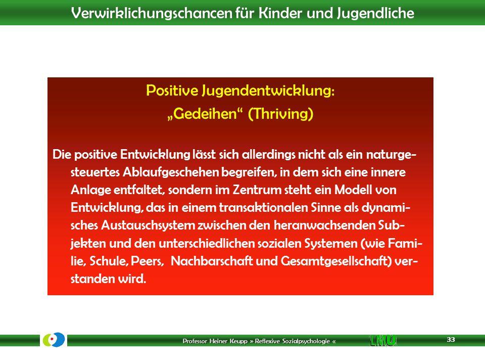 """Positive Jugendentwicklung: """"Gedeihen (Thriving)"""