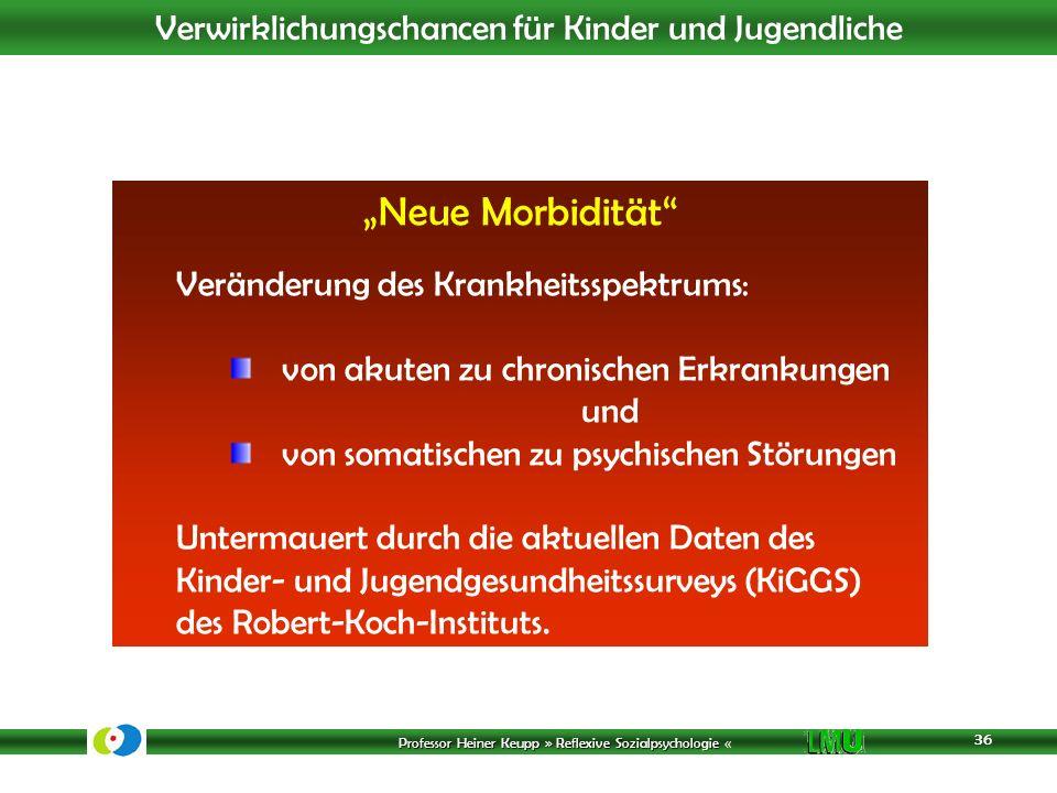 """""""Neue Morbidität Veränderung des Krankheitsspektrums:"""